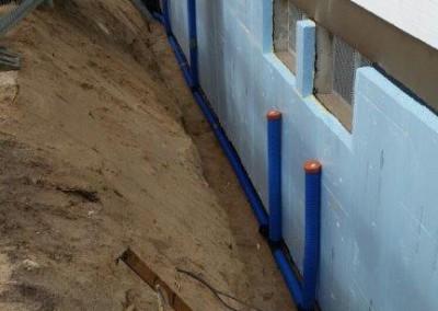 Kellerwandisolierung mit Drainage